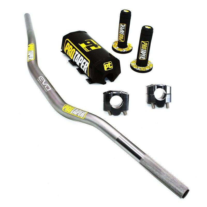 Image 5 - Handlebar For PRO Taper Pack Bar 1 1/8 Handle bar Pads Grips Pit  Pro Racing Dirt Pit Bike Motorcycle CNC 28.5mm AdapterHandlebar   -