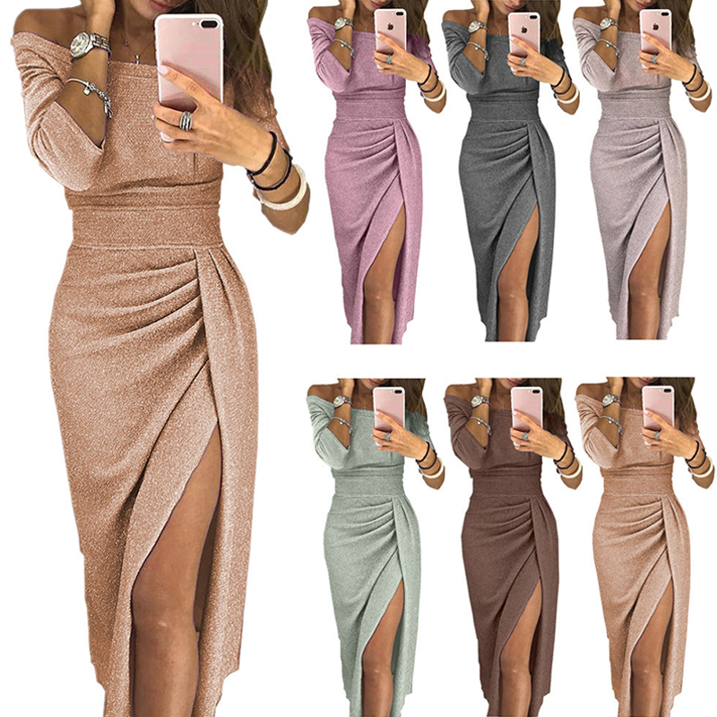 New Sexy Style Evening Dresses Long Vestido De Festa Longo Prom Dress Robe De Soiree Evening Gowns Vestidos Elegante 2018 2019