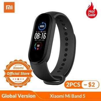 Xiaomi Mi Banda 5 Globale Versione di Smart Braccialetto 5 di Colore AMOLED Schermo Miband 5 banda intelligente Inseguitore di Fitness Bluetooth Impermeabile 1
