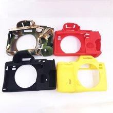 цена на 1Set Soft Camera Video Bag Silicone Case For Sony A7 A7R A7S A7 R A7 Mark 1 Rubber Camera case Protective Body Cover Skin