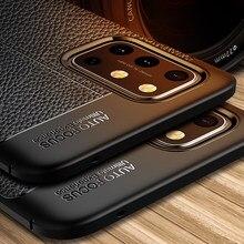 Oneplus 8T Kılıf Kapak One Plus 8 T Plus Pro Lüks Deri Yumuşak Silikon Darbeye Dayanıklı TPU Tampon Telefon Kılıfı için Oneplus 8T 5G