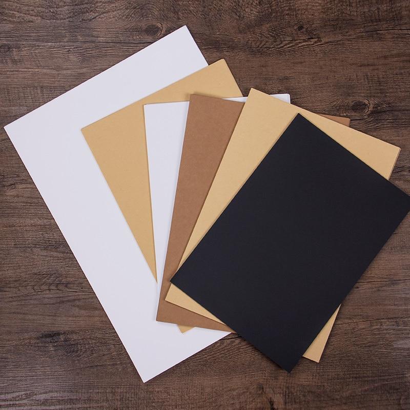10/20 pièces papier Kraft blanc carte de voeux blanc noir papier 8 K/4 K/A3 papier Kraft bricolage peint à la main Graffiti artisanat Papel carton
