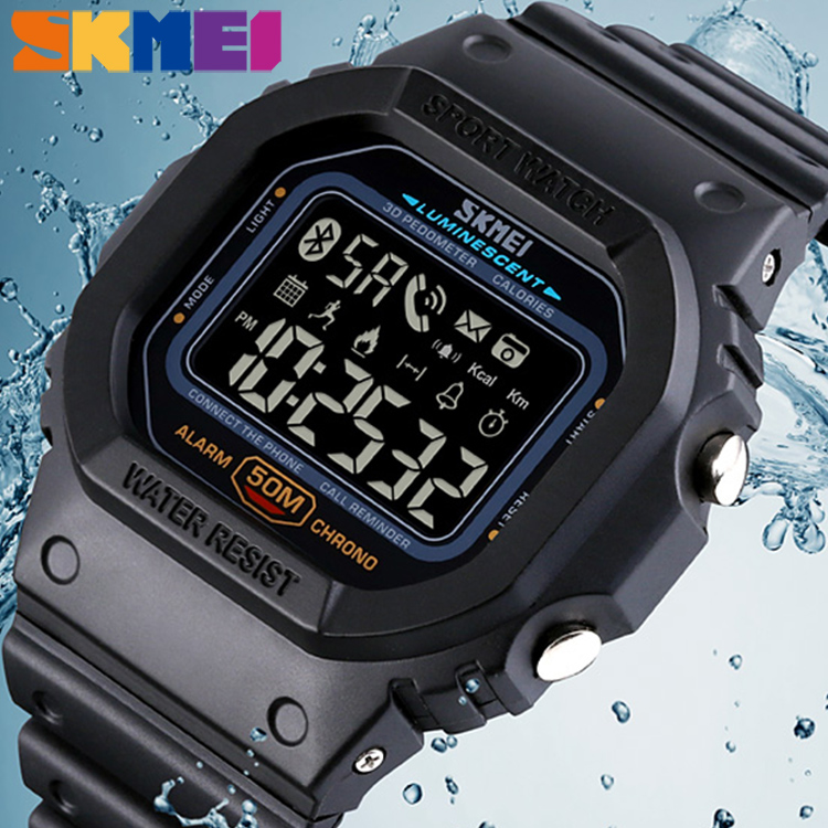 Bluetooth Calorie Pedometer Watch SKMEI High Quality Men's Sports Military Electronic Waterproof Multifunction Digital Watches