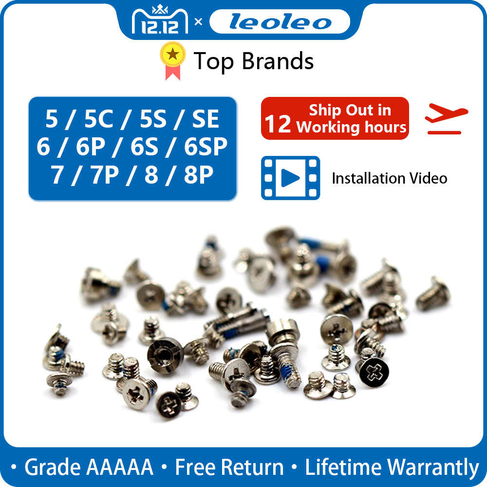 LEOLEO Premium Full Screw Set For iPhone 6G 6 Plus 6S Plus 7 7 Plus 8G Mobile Accessories Screws Kit Replacement