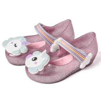 Mini Melissa Girls Sandals Unicorn Jelly Shoes Children Breathable Non-Slippery High Quality Summer