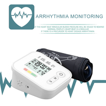 Monitor digitale di Pressione Sanguigna Tonometro Attrezzature Mediche Braccio Apparecchi per la Misurazione della Pressione Casa LCD Health Monitor