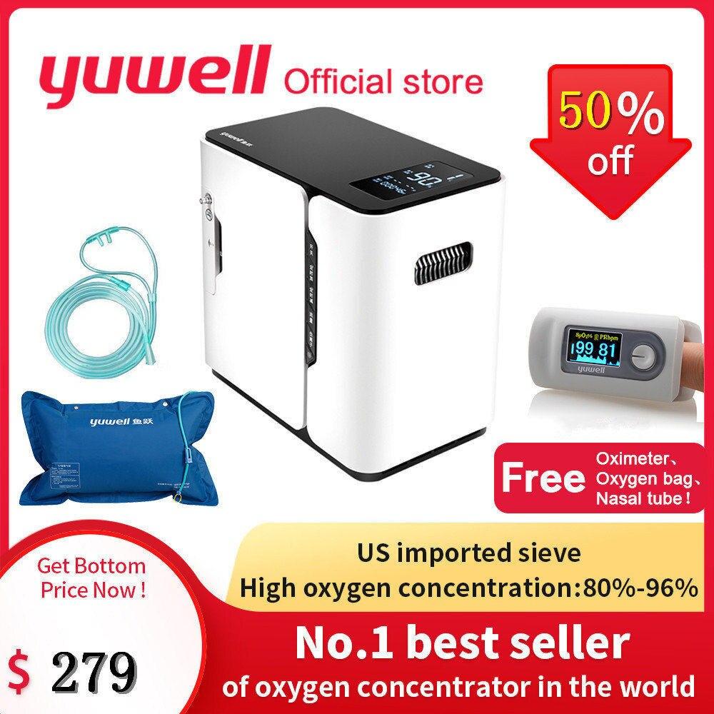 Yuwell YU300 générateur de concentrateur d'oxygène être bon pour ventilateur sommeil concentrateur d'oxygène équipement médical haute Concentration