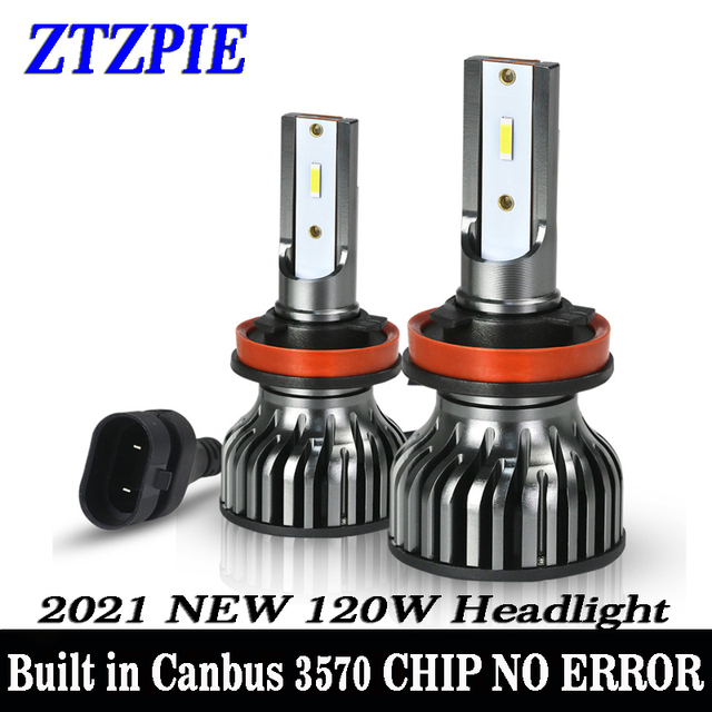 ZTZPIE 20000LM 60W 120W 6000K 9005/HB3 9006/HB4 H1 H8 H7 H4 H11 H9 Led Headlight Super Bright 3570 CHIP Car Fog Light Bulb 12V
