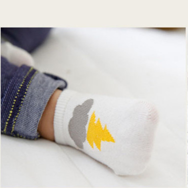 Spring And Summer New Style Lightning Cloud Baby Cotton No-show Socks Infant Baby Anti-slip Dispensing Floor CHILDREN'S Socks