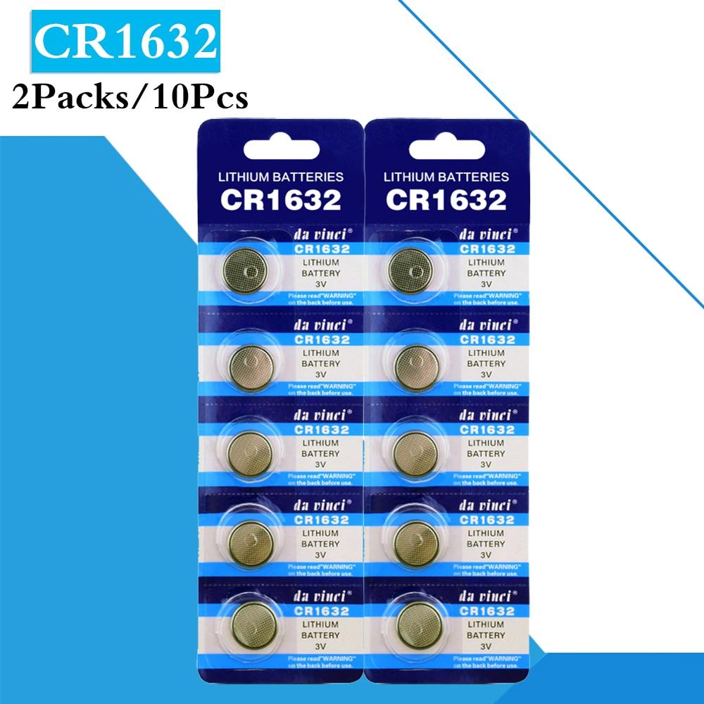Кнопочные батареи 10 шт./лот 3 в, литиевые CR1632 1632 BR1632 ECR1632 DL1632 для электронных инструментов, видеокамер, сотовых батарей