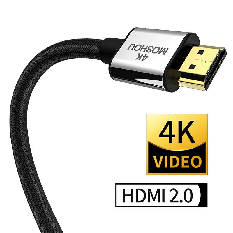 4K @ 60Hz HDMI 2.0b 4K 2,0 2 кабеля MOSHOU HDR ARC 2160P Ethernet видео штекер для телевизоров Samsung PS4 усилитель проектора