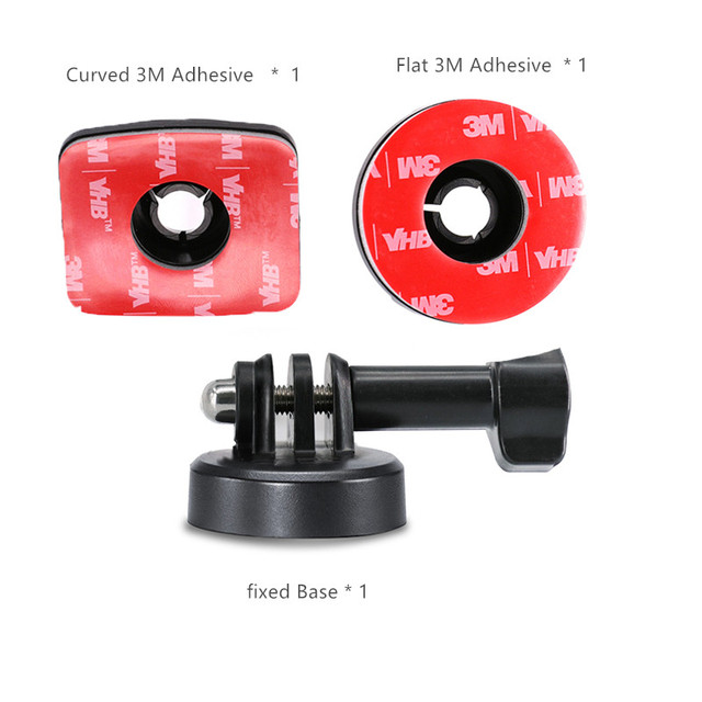 osmo action camera Mount 3M Adhesive Sticky Curved / Flat surface / fixed Base  for dji osmo action camera Accessories