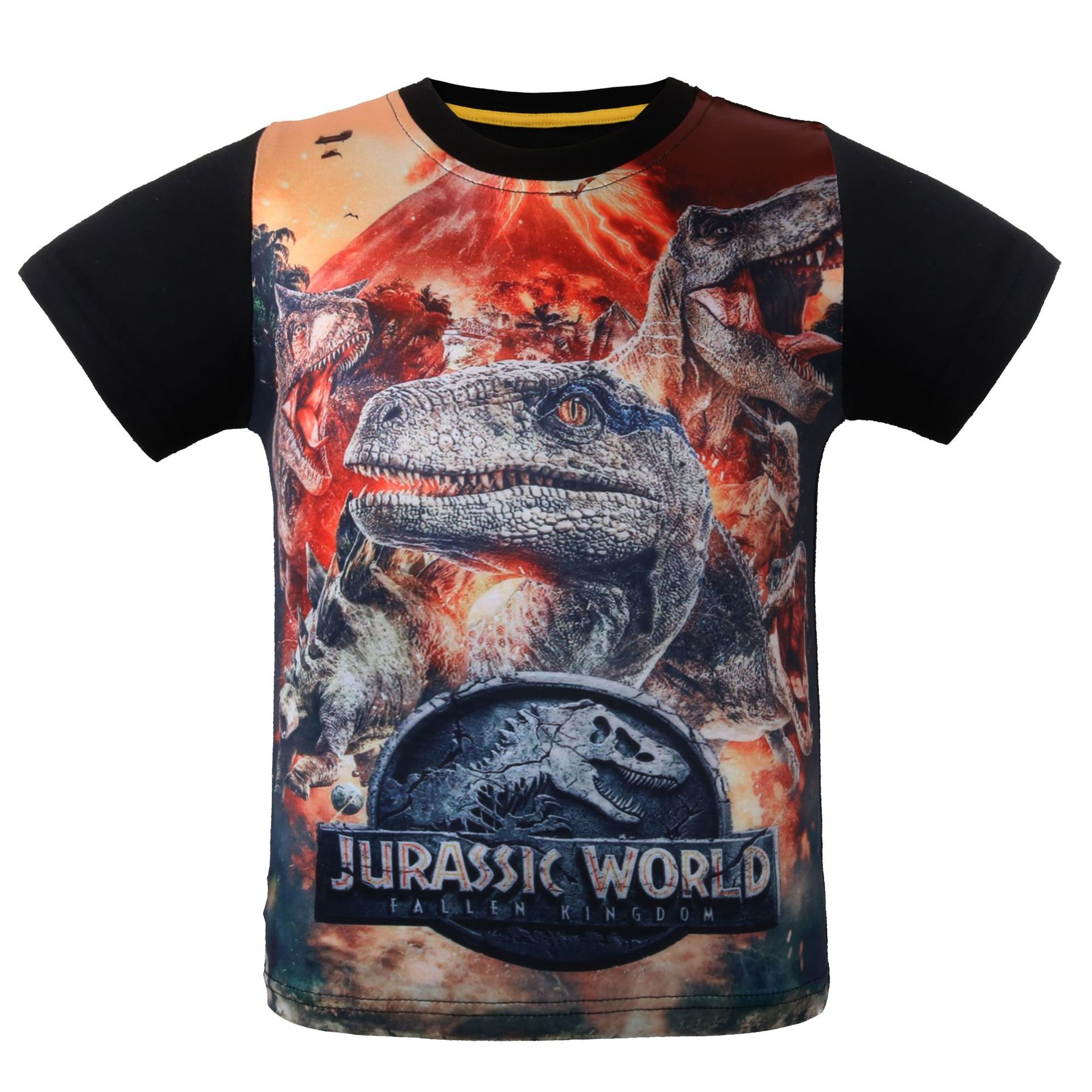 2018 Jurassic World Short Sleeve Dinosaur-like Clothing CHILDREN'S T-shirt Summer Foreign Trade Wholesale Short Sleeve KID'S Jac