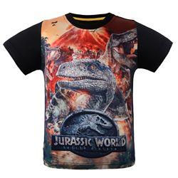 2018 mundo jurássico manga curta dinossauro-como roupas para crianças camiseta verão comércio exterior atacado manga curta kid's jac