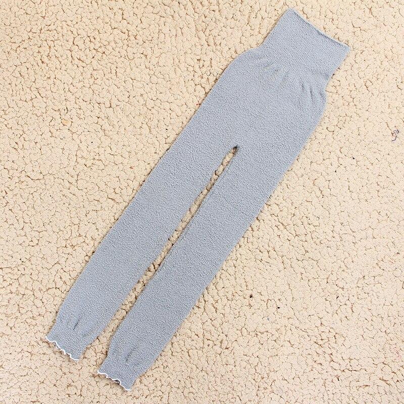 Теплые штаны из микрофибры, эластичные брюки для женщин, сохраняющие тепло, домашние штаны в физиологический период для увеличения - Цвет: HUI