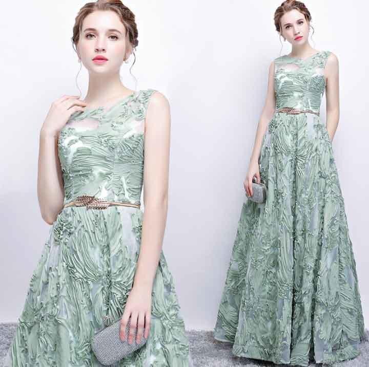 N personnalisé Floral Applique Illusion vert de luxe robe de soirée grande taille robe Maxi tapis rouge robe de bal grande taille 5xl