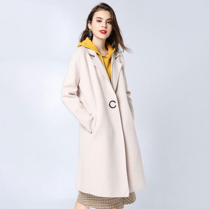 Blusão de Lã Casaco de Lã Longo das mulheres Personalizado Inverno Desgaste de Maternidade Moletom Com Capuz Grosso para a Mulher Grávida Lapela Casaco De Lã
