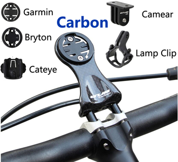 Carbon Mount Garmin Edge 200 520 820 Cateye Bicycle Computer Holder Bryton Rider 310 410 530 Cycling Bike light lamp Clip Camera