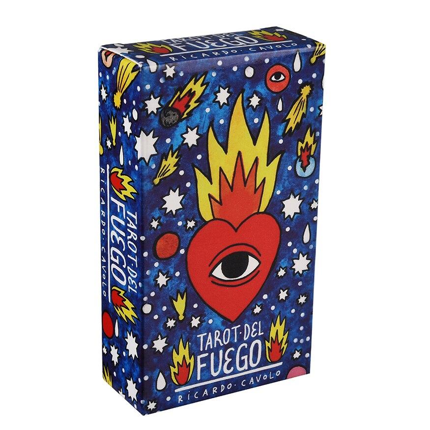 Tarot del Fuego cartas Tarot para cubierta Oracles guía electrónica libro juego de juguete por Ricardo Cavolo DC5V 24V LED Digital WIFI DMX512 controlador 2048 píxeles controlador RGB WIFI programable controlador controlado por APP