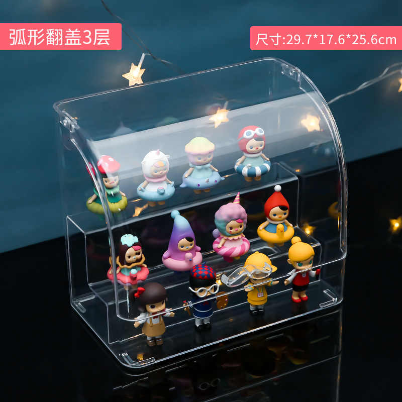 Acryl Display Stand Blind Box Display POP MART Stehen Multi-schicht Hand Zeigen Display Puppe Zeigen Nagellack Rack