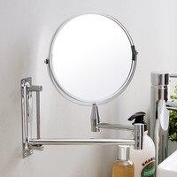 8 인치 확장 가능한 1X5X 돋보기 욕실 거울 스마트 미러 메이크업 벽 마운트 거울 욕실 거울 캐비닛 cy523