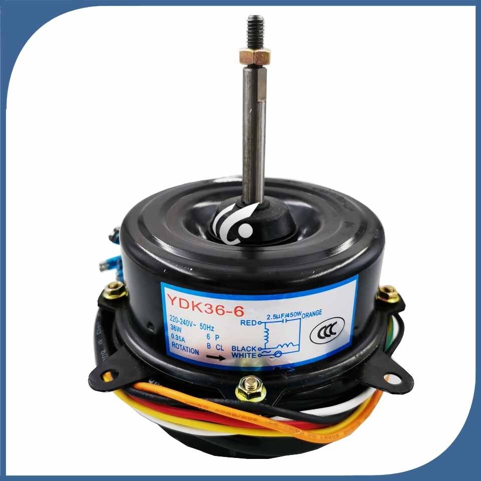 Nowy prawidłowej pracy dla klimatyzator wewnętrznego silnika maszyny YDK 36 6 silnik wentylatora 36W 220V w Części do klimatyzatorów od AGD na  Grupa 1