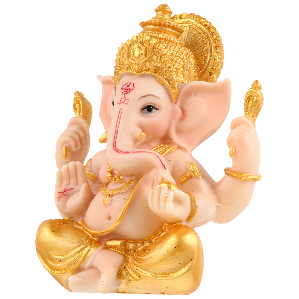 Elephant God of Wealth Statue Resin Art Craft Decoration for Home Office