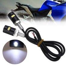 Mayitr 2 uds 12V LED motocicleta coche trasero matrícula tornillo perno lámpara bombilla negra impermeable bombillas cilíndricas
