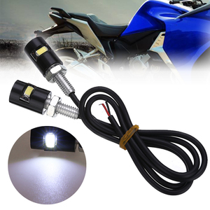 Image 1 - Mayitr 2PCS 12V LED Motorcycle Car Rear License Plate Screw Bolt Light Lamp Bulb Black Waterproof Cylindrical Bulbs