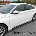 10th lealdade para Honda Accord Gen 2018 2019 2020 Lado Do Corpo Saias Capa Kit Guarnição Quadro ABS Acessórios De Carro de Fibra de Carbono Preto