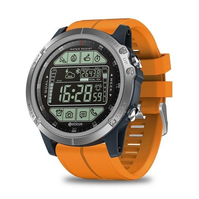 Smart watch original zeblaze vibe 3s, relógio para atividades ao ar livre, 33 meses, standby, pulseira de gel de sílica, à prova d água 50m pista de fitness