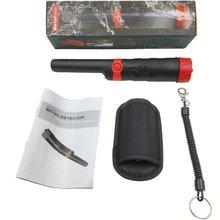 LED Secure High Sensitivity Foldable Metal Detector 360 Degree Detective Range Stable Lightweight Metal Detector Black
