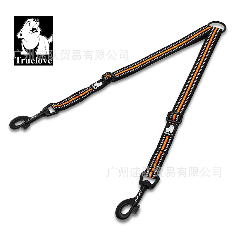 Truelove Two Pieces Dog Two Traction Rope Head Hand Holding Rope Double Dog Chain Dog Hand Holding Rope Large Dog Double Headed