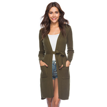 Long knit cardigan long sleeve women sweater cardigan fleece cardigan summer striped loose cardigan long cardigan cardigan 1701500 83