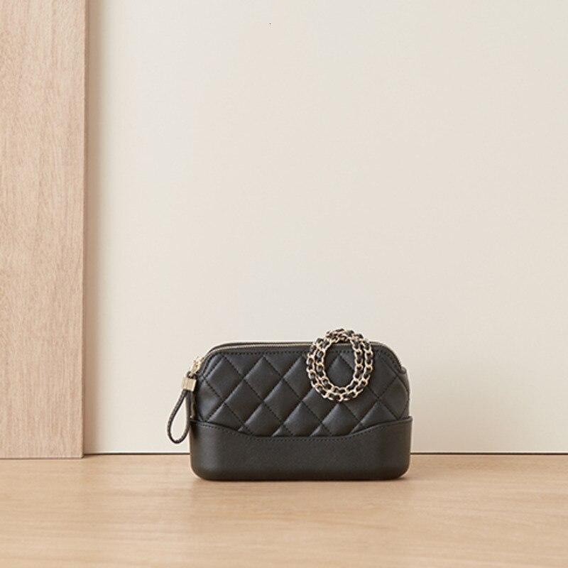 Роскошные сумочки, посылка, маленькая настоящая женская сумка, на одно плечо, сумка мессенджер, черная цепочка, квадратная женская дизайнер... - 6