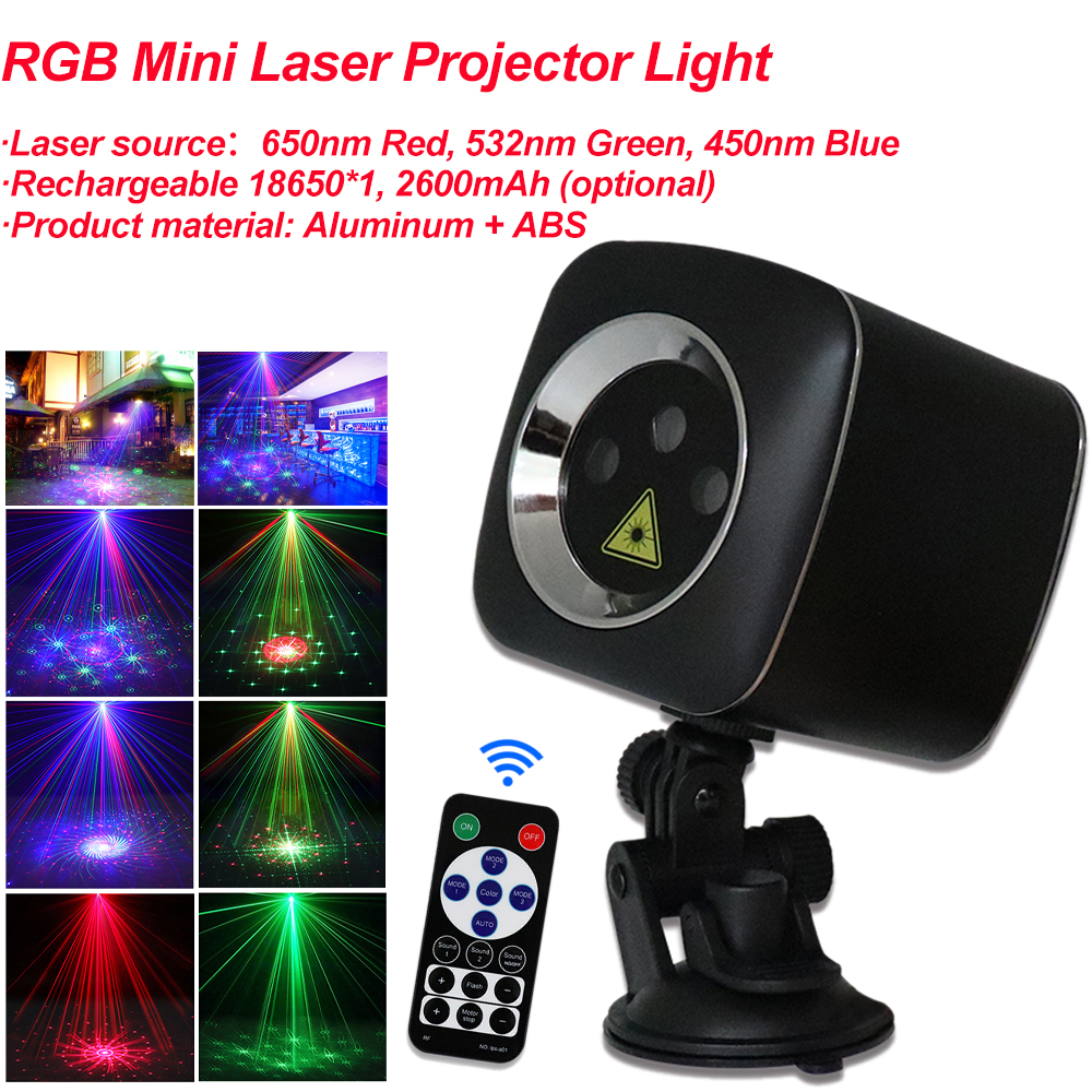 RGB Mini Laser Projector Light 32 Patterns DJ Disco Light Music RGB Stage Lighting DMX Effect Lamp For Christmas KTV Home Party