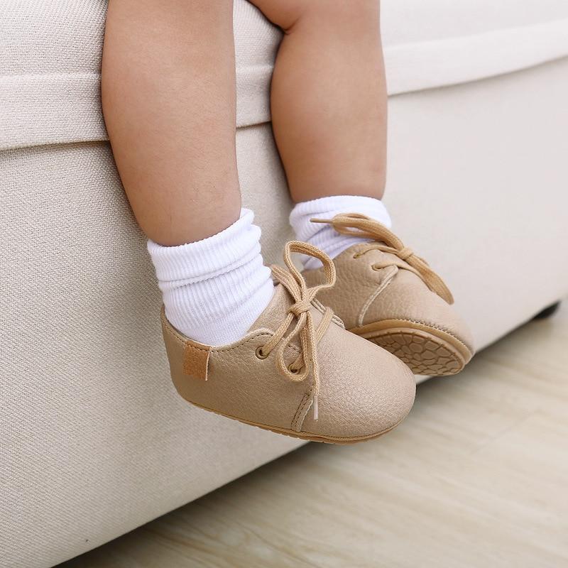 Кожаные Мокасины для новорожденных, Нескользящие, разноцветная обувь в стиле ретро для начинающих ходить мальчиков и девочек, резиновая подошва 5