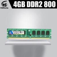 VEINEDA Memory RAM Memoria Module Computer Desktop DDR2 4gb PC6400 533 667MHZ 4G DDR2 compatible with 800MHZ 240pin