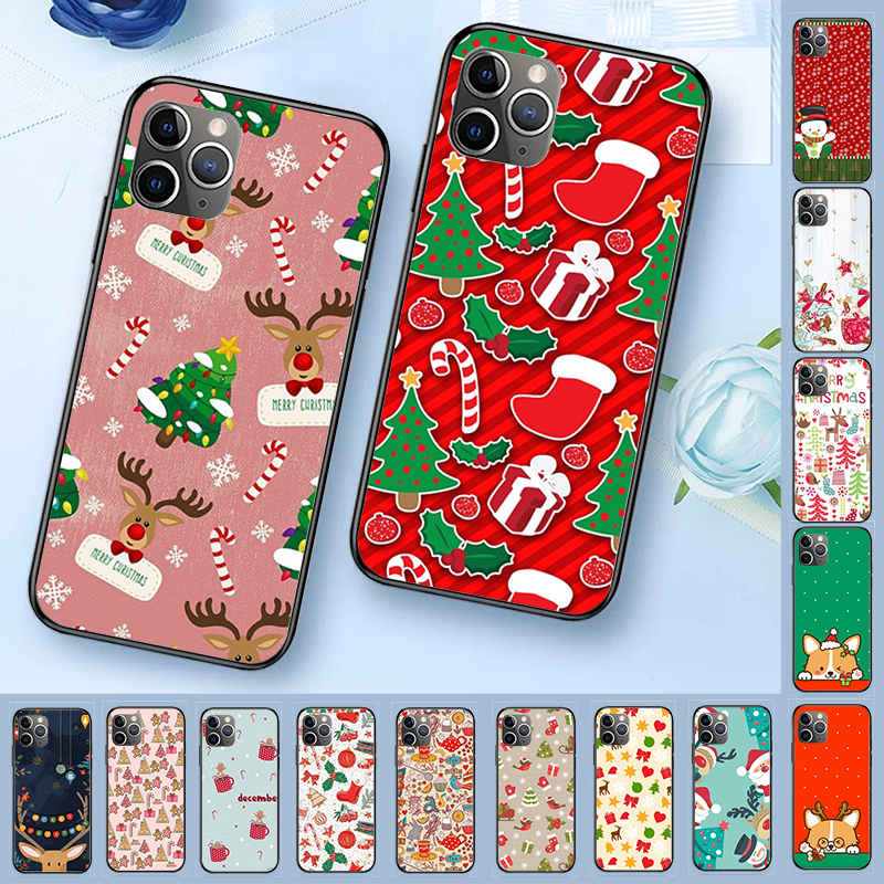 Cartoon Christmas Wallpaper Luxury Unique Design Phone Cover for iPhone 11 pro XS MAX 8 7