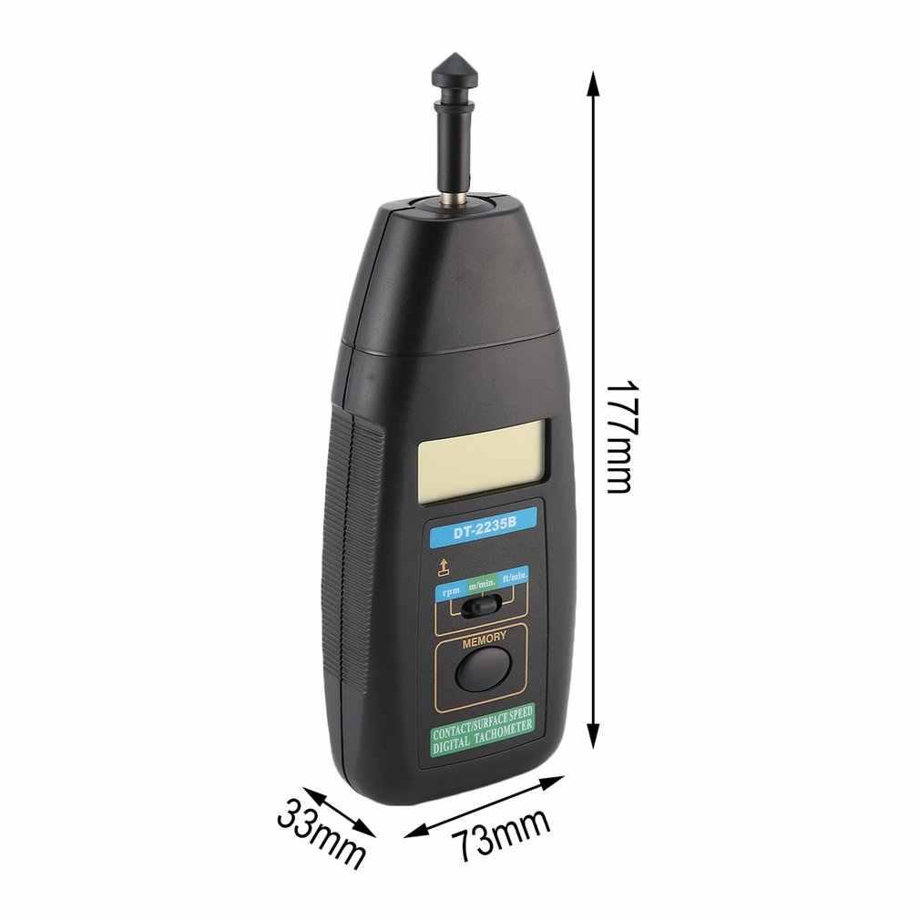 JTW DT-2235B LCD cyfrowy obrotomierz kontakt RPM Tach miernik testowy wskaźnik prędkości silnika testowanie ręczny fotoelektryczny