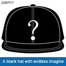 Zefit benutzerdefinierte kappe snap strap auf back headwear flache krempe custom design 3D logo kleine auftrag freies verschiffen kunden baseball hut