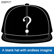 Zefit custom cap snap strap on back headwear flat brim custom design 3D logo small order free shipping customized  baseball hat
