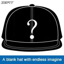 Zefit מותאם אישית כובע הצמד רצועה על חזרה כובעי שוליים שטוחים עיצוב 3D לוגו סדר קטן משלוח חינם מותאם אישית בייסבול כובע