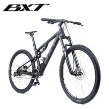 Bxt 29er bicicleta de montanha suspensão, carbono t800, mtb, 11 velocidades, carbono s/m/l/xl quadro completo da bicicleta 29*2.1 polegadas roda