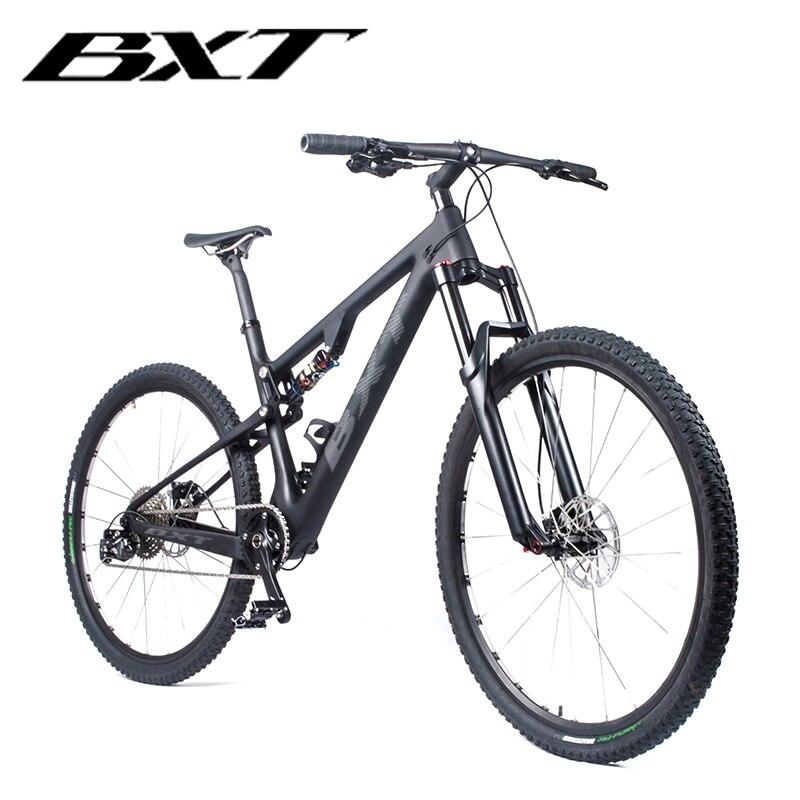 "BXT 29er Full Suspension Mountainbike T800 Carbon MTB Fiets 11Speed Carbon S/M/L/XL bike Frame Complete Fiets 29*2.1 ""Wiel|Fiets|   - AliExpress"