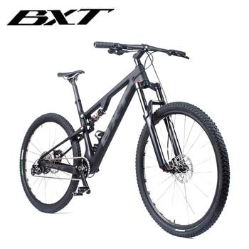 BXT-Cuadro de bicicleta de montaña T800, 29er, suspensión completa, de carbono, 11...