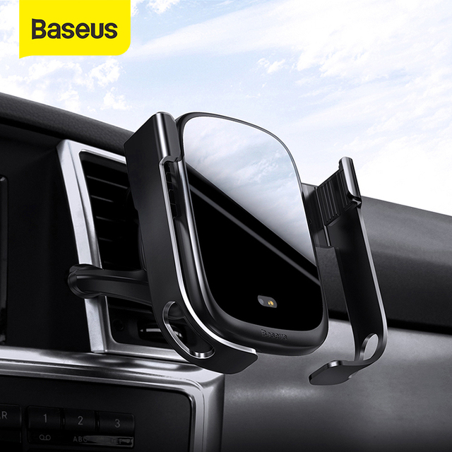 Baseus Wireless Car Charger For iPhone 11 Xs Max Xr 8 Plus 10W Fast Wireless Charger Holder Car Phone Charger For Huawei P30 Pro