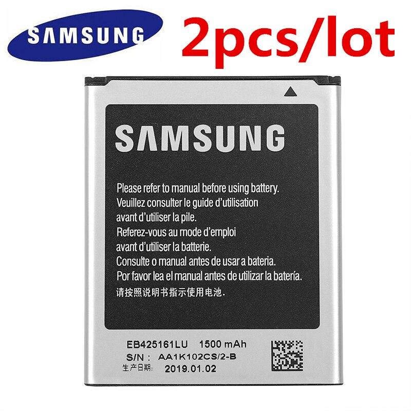 2pcs/lot SAMSUNG Battery EB425161LU For Samsung GT S7562L S7560 S7566 S7568 S7572 S7580 i8190 I739 I8160 S7582 SM J105H J1 MINI on