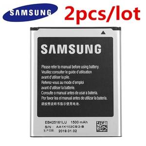 Image 1 - 2pcs/lot SAMSUNG Battery EB425161LU For Samsung GT S7562L S7560 S7566 S7568 S7572 S7580 i8190 I739 I8160 S7582 SM J105H J1 MINI