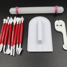 Набор помадки комбинация 11 штук DIY Набор инструментов для выпечки zhuang shi bi Rolling Pin Полировочная машина канцелярский нож